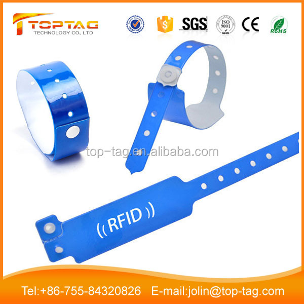 Adjustable Disposable RFID Wristband for Concert Access Control at Lowest Price