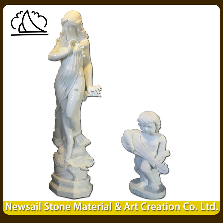 Home Goods Garden Lifelike Western Mother And Son Statue