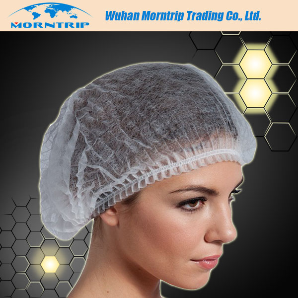 Cheap single use disposable non woven kitchen hair nets