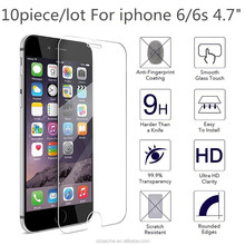Tempered Glass Screen Protector For Apple iPhone 7 7 Plus 6 6s SE 5 5S 9H 0.26mm Tempered Glass