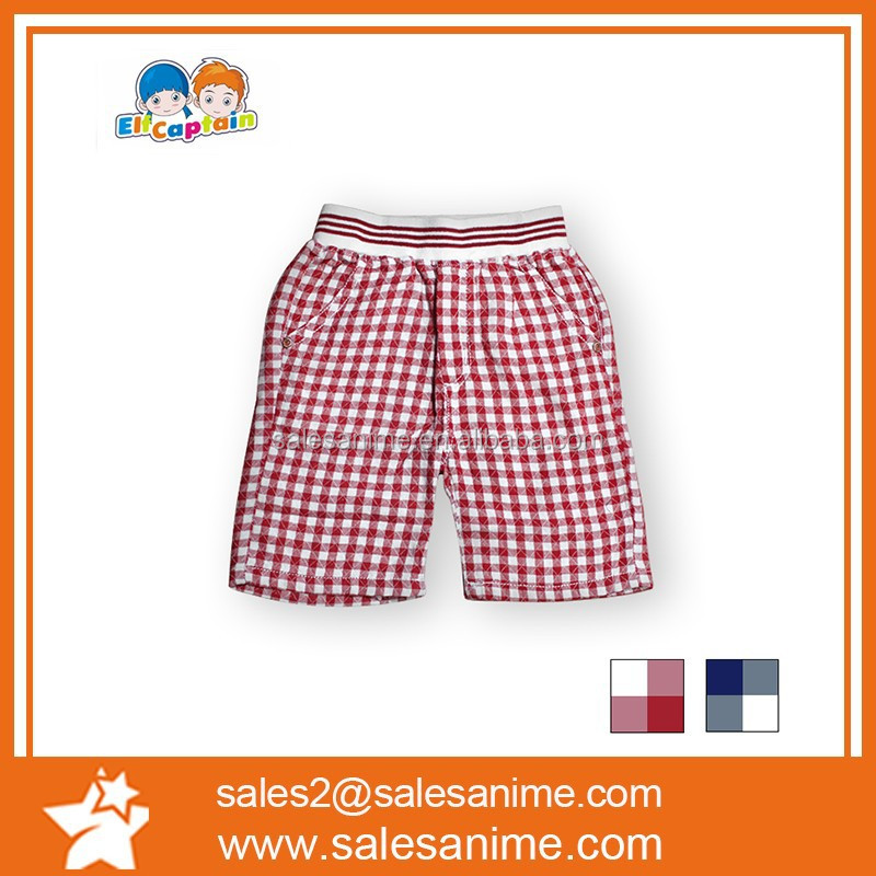 Rubber band head Plaid Shorts,2015 wholesale fashion boy shorts