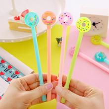 0.38mm Creative Cartoon Donuts Gel Pen Cute Kawaii Candy Color Pens For Writing School Supplies Stationery