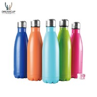 17oz Custom double wall vacuum insulated stainless steel metal cola shapes sports water bottle