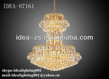 Yellow crystal chandelier light 2013 factory design