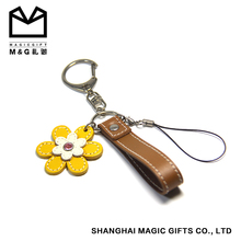 high quality brown handmade leather keyring