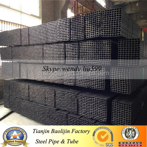erw square black annealed iron tubo