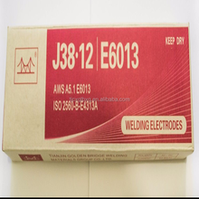 golden bridge Copper bridge stainless steel welding rod manufacturer AWS E6013 E7018 welding electrode