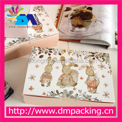 Cute Rabbit Love Candy Cookie Gift Paper Boxes Chocolate Packaging Box Food Carton Macaron Packing box Presents