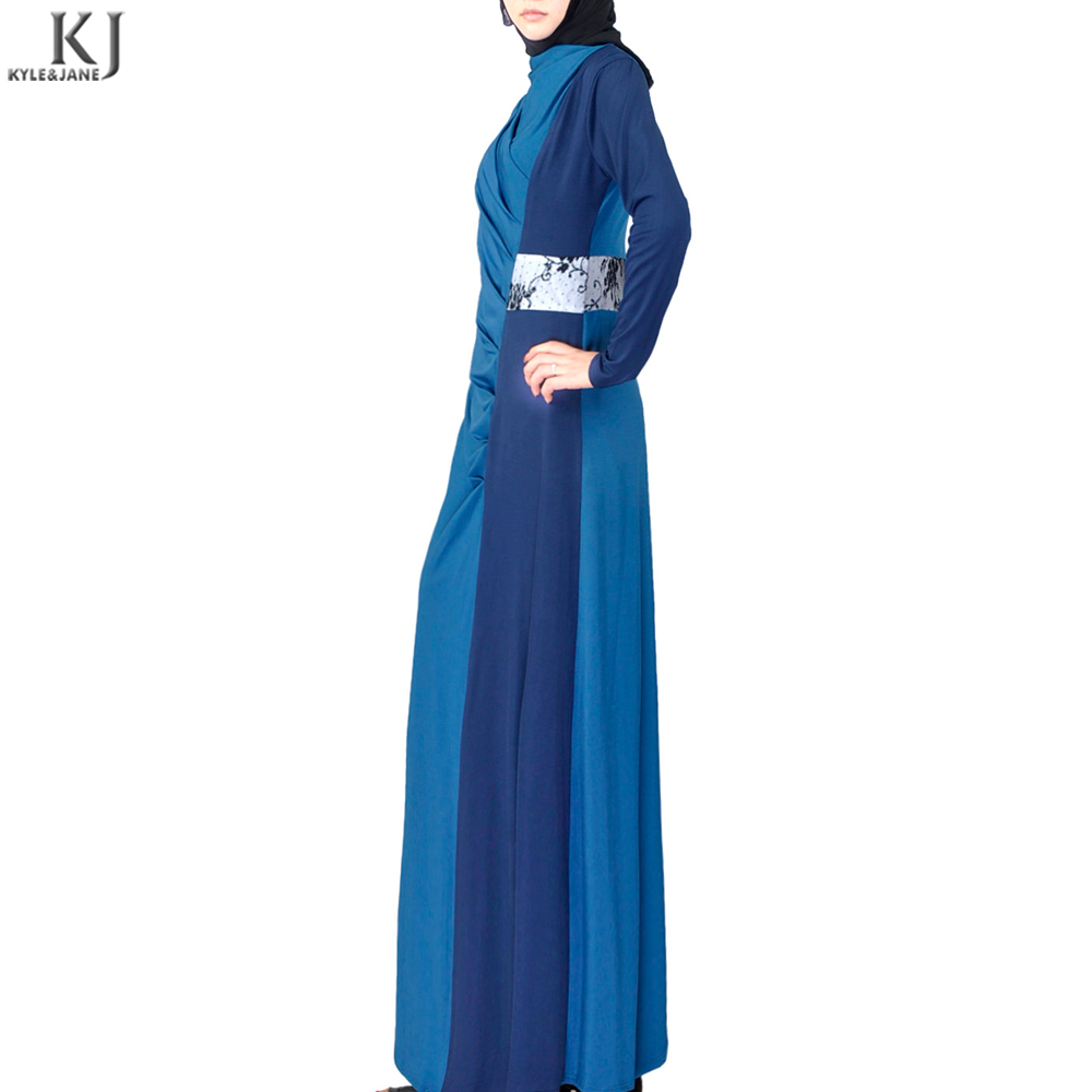 hot sell matching color waistband spandex sport islamic clothing abaya girl kaftan 2018 new designs jubah modern for exercise