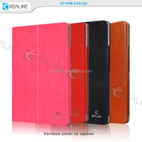 various color leather protect book cover for ipad mini 3 metal bumper