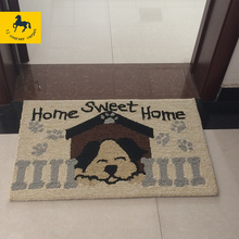 factory high quality loop pile custom floor mat with cotton backing