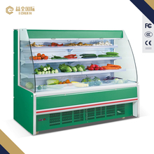 2500X980X1650 good price fruit and vegetables display case / fruit display refrigerator