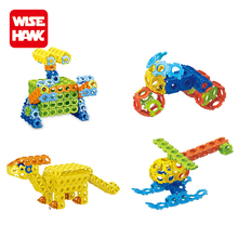 Wise Hawk 300pcs creative construction blocks plastic building brick 2017 new toys for kids