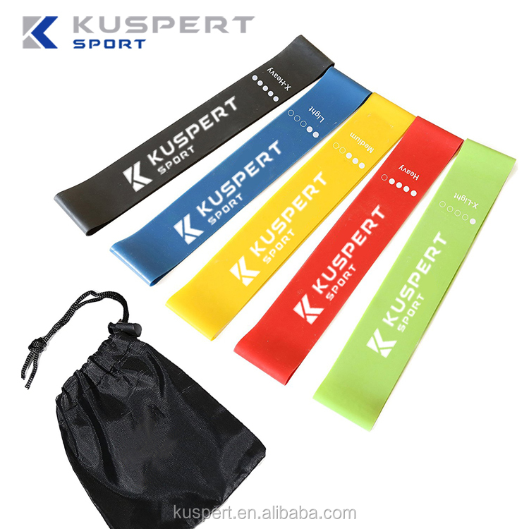 Resistance Loop Bands Set Heavy Exercise Bands for Legs Set of 5 Fitness Bands for Physical Therapy