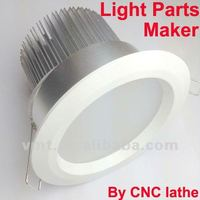 LED light parts residential ceiling light fixture by CNC lathe