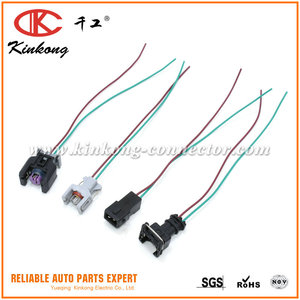 2 Pin Female Waterproof Pigtail Auto Wire Harness Connector