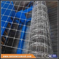 Long life hot dipped galvanized fixed knot woven wire fence