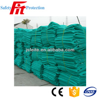 Green scaffold debris safety net for construction use
