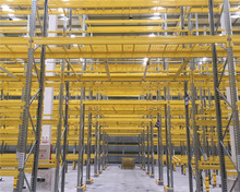 High density storage conventional pallet racking system