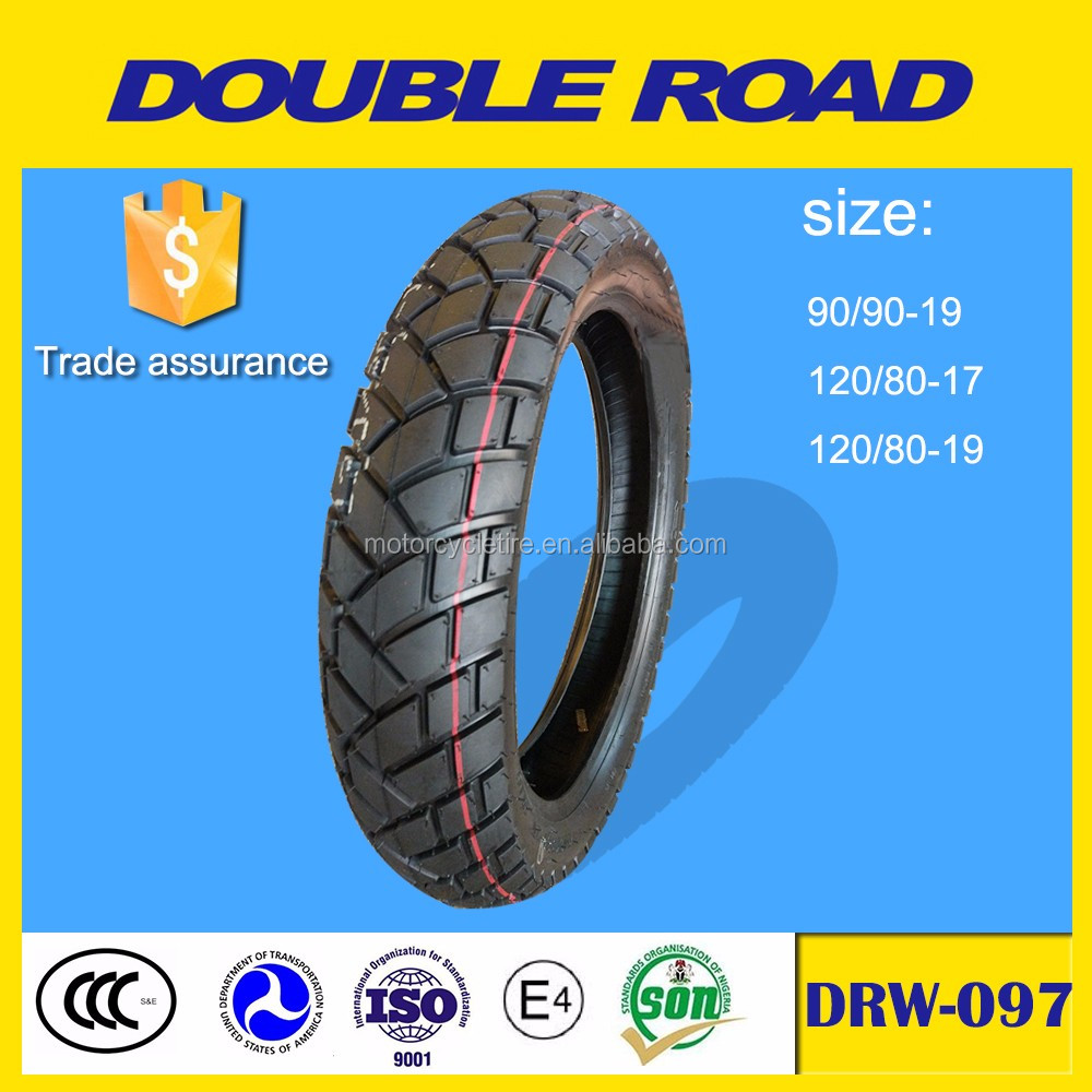Wholesale double road brand 120/80-17 tubeless motorcycle tires