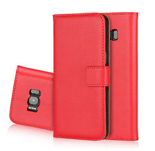 Genuine Leather Wallet Flip Phone Case For Samsung Galaxy S8 Mobile back Cover