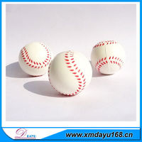 White PU Soft Mini Baseball Stress ball for toys