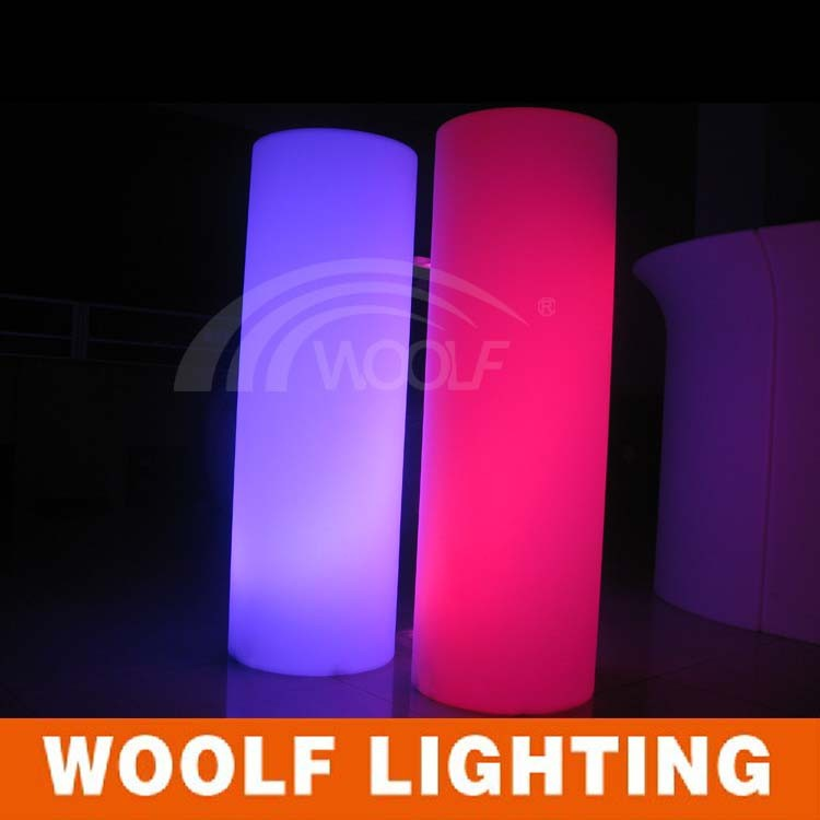 Wedding pillar/LED furniture/plastic pillars columns with remote control