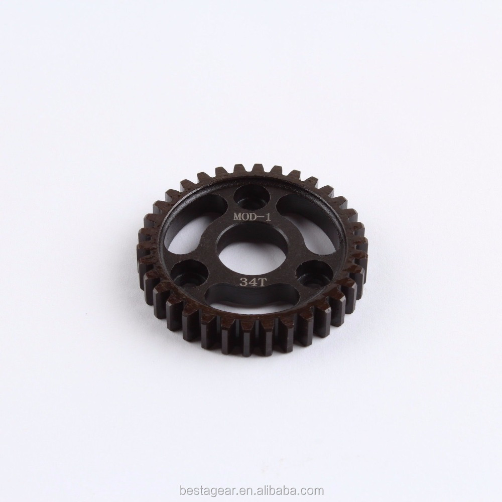 34T Mod1 Hardened Steel High speed Spur Gear for Robinson RC cars
