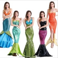 Big Long Dress Mermaid Cosplay Costumes Halloween Cosplay Costumes For Woman
