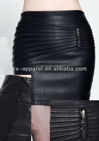ladies' leather skirts dresses women sexy leather bondage