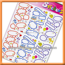 Creative Name Brand Tag Designs Paper Sticker