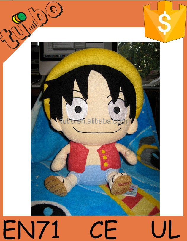 2015 Custom size plush Tony Tony Chopper , plush Monkey D Luffy , plush toys for sale