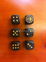 16mm rounded coffee demon dice/16# carving tau dice/Custom logo dice