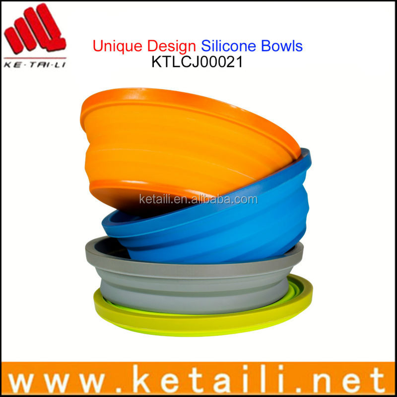 Good quality silicone folding washing up bowl, microwave safe silicone bowls