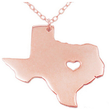 Texas States Map Stainless Steel Women and Men Necklace