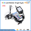 Remote controller RGb color change LED Angel Eyes 2*10W LED Marker for BMW E90,E91 High bright