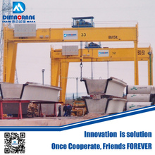 Euro-style double girder gantry crane designed for cement beam yard