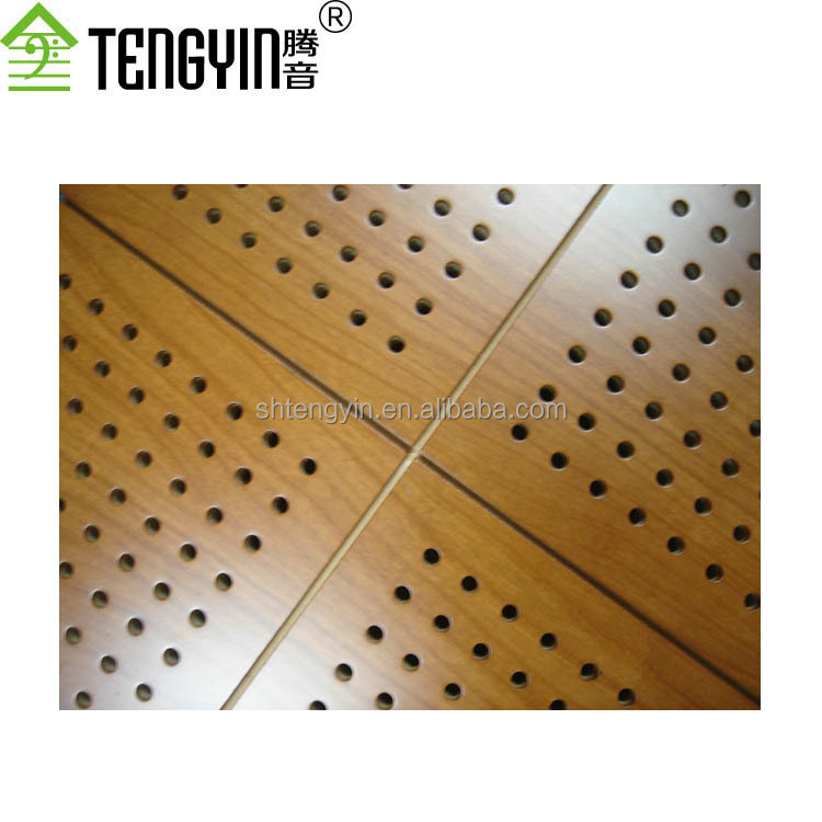 China suppliers new goods soundproofing materials cheap wood perforated acoustic interior ceiling wall panelings
