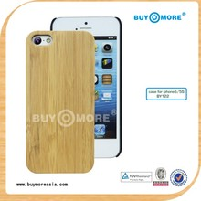 low MOQ wooden bamboo cover for apple iphone 5c accepted paypal