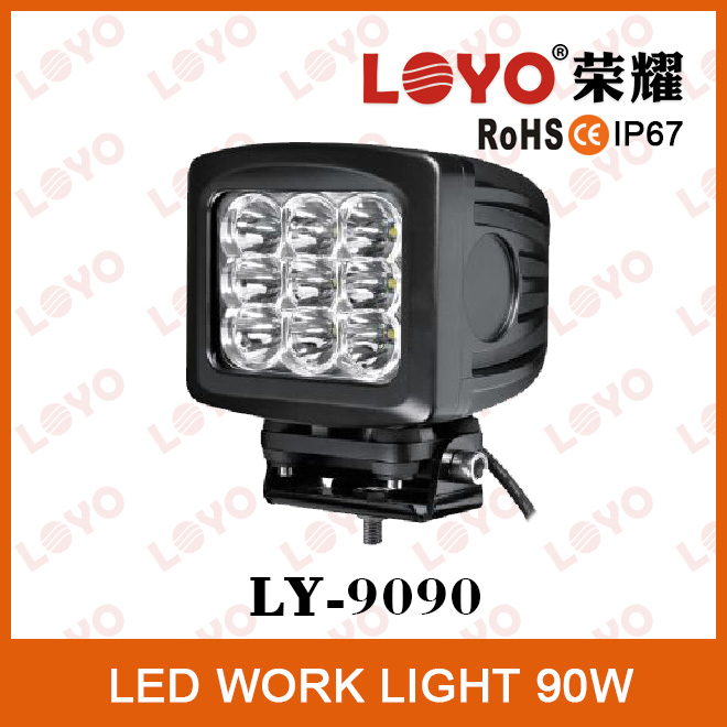 High Power auto accessories led driving light 9x10w LEDs 90w led tractor working lights
