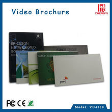 China supplier high quality low price 4.3 inch video brochure card for brand company