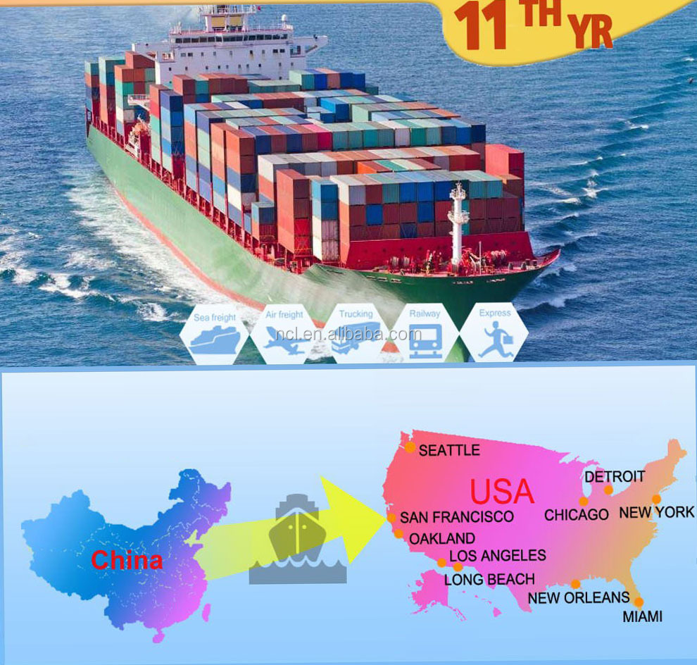 International Container sea freight dropship service from China to Philadelphia USA