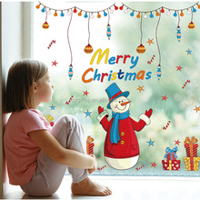 OXGIFT Made in China Alibaba wholesale Manufacture Christmas Pvc Transparent Glass sticker