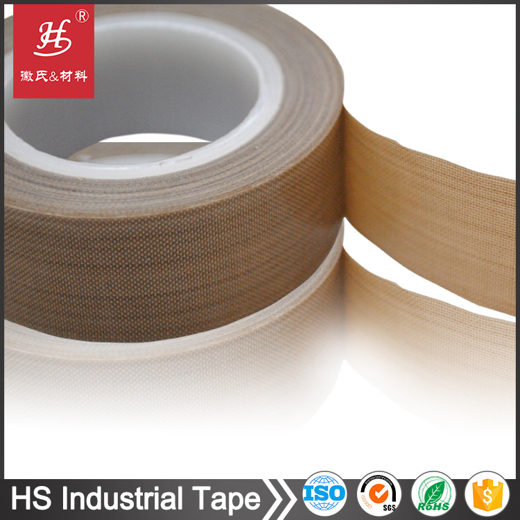 PTFE Coated Heat-resistant Glass Cloth Adhesive Tape With ISO SGS Certifications