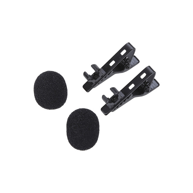 BOYA BY-LM300 Dual-head Omni-directional Electret Condenser Lavalier Microphone for DSLR Camera Camcorder