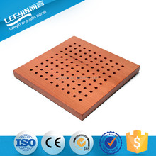 eco pine wood and fireproof perforated acoustic board for meeting room