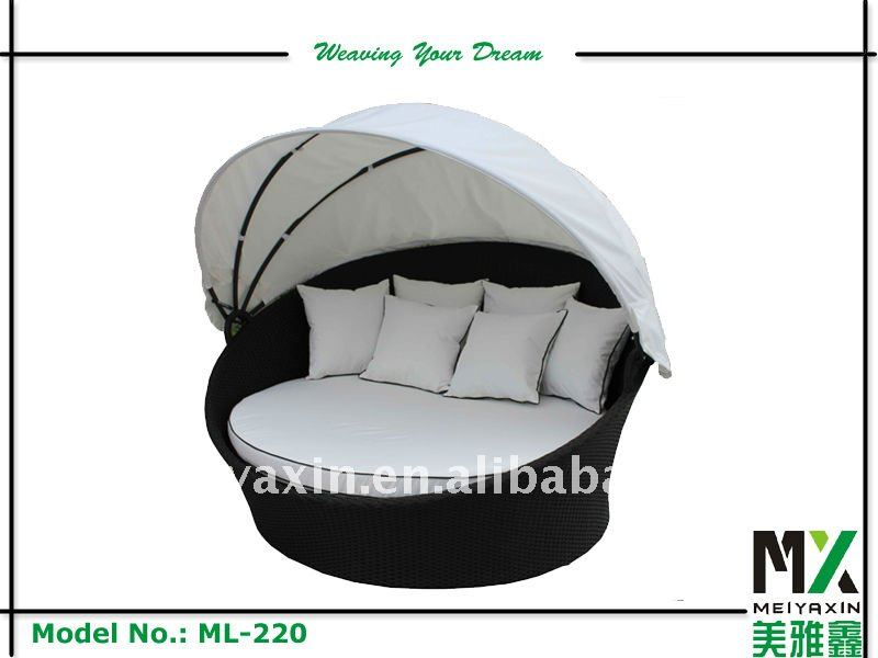 Resin Wicker outdoor round Lounger ML-220
