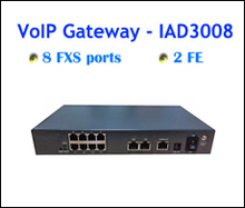 promotional VoIP transmitter receivers 2FE+8 FXS port for call center