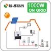 USA Home Use High Efficiency 1KW Solar Energy System 1000W Module Kits