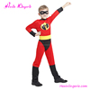 Customized Red Jumpsuit kids halloween Superhero Custome